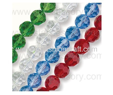 Fire Polished and Pressed Glass Bead