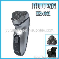 three fixed cutterblock shaver with hair trimmer