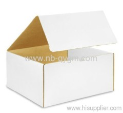 White corrugated Die Cut boxes FEFCO0421 Overlap