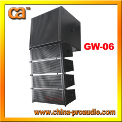 Line array system GW-06 with class-D amplifier