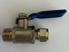 Brass Mini Ball Valve With Nickle Plated
