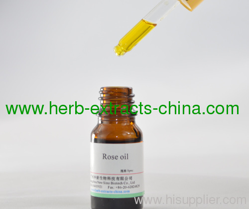 Floral Pure Rose Essential Oil; Pure Olive Yellow Hue