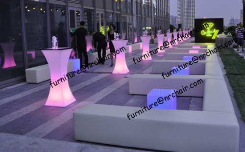Banquet Party Acrylic Led Illuminated Cocktail Bar Table