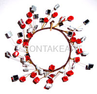 "Wholesale christmas decor--3.5""BEAD CANDLERING"