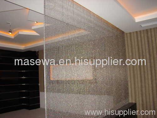 Metal Bead Chains Silver Metal Curtain