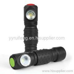 magnetic bulb led light finger flashlight with steel clip