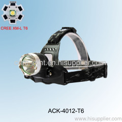 10W CREE XML T6 high power aluminum headlamp ACK-4012 (T80)