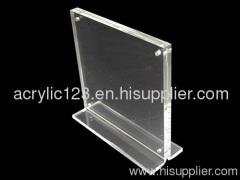 acrylic table menu display holder