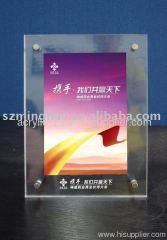 clear acrylic photo frame with screw