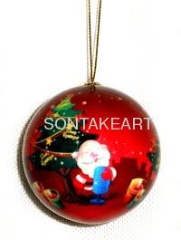 christmas tree decoration--90MM RIBON BALL HANGING
