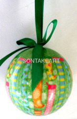 80MM DECOUPAGE BALL HANGING