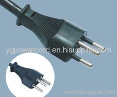 4.0MM INSULATION PIN PLUG H05VV-F 3X0.75MM2