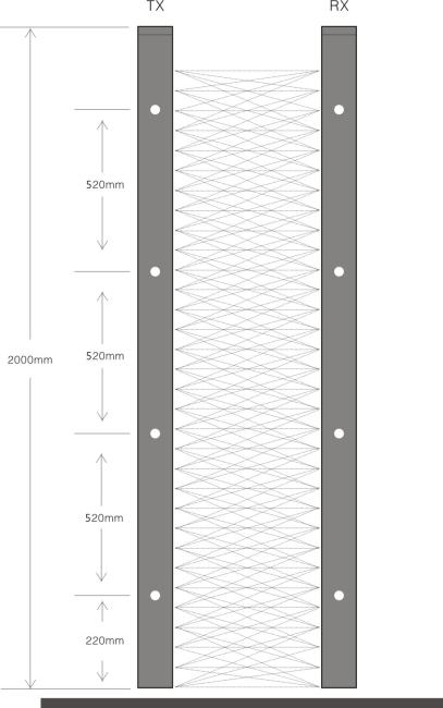 a32 slim type infra red elevator door sensor from china