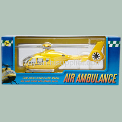 Toy helicopter packaging box with plastic window