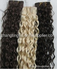 Loose curl machine made hair extension