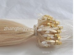 Silky straight micro ring hair extension