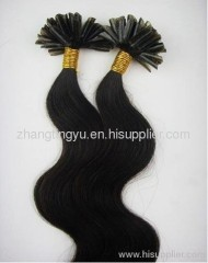 Black U tip hair extension