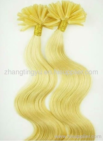 Yellow pre-bond Hair Extension