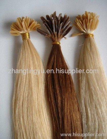 Indian remy keratine hair extension