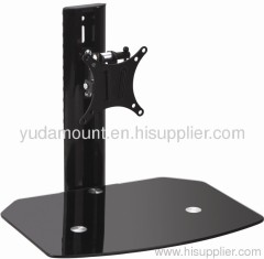 DVD support with tv bracket