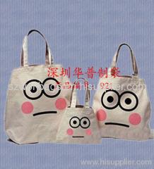 Zippered cotton bag, 22 oz carry all cotton bag