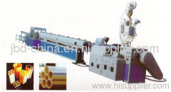 PE/PVC multi-hole pipe making machine