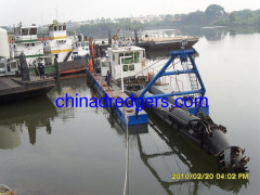 Cutter suction sand dredge