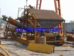 Dewatering wheel type sand washer