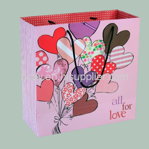 250g art paper thanks paper bags for toy presents