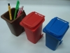 Mini plastic dustbin pen holder