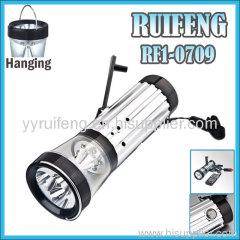 Led Crank Flashlight functional alarm flashlight best emerge