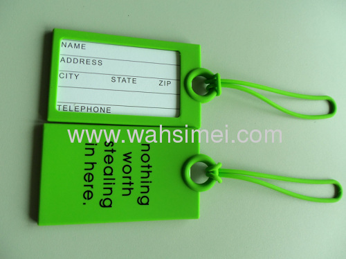 Fashion design airline silicone luggage card
