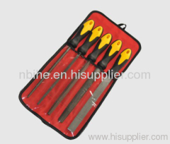 5pcs Professional steel Files set with red pouch packing