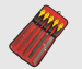 5pcs steel file set Red pouch packing