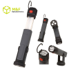 Magnetic rechargeable led work light telescopic lantern with rotating device