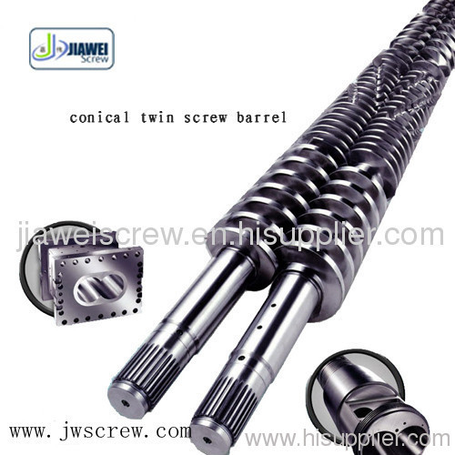 Twin Conical Screw / Extruder Screw Barrel