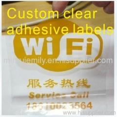 transparent label