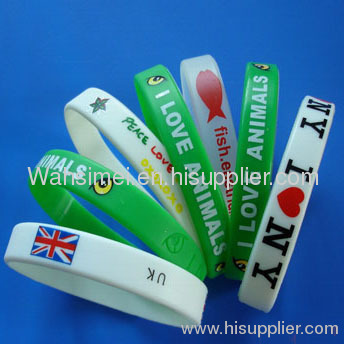 silicone wristband for Christmas gift birthday