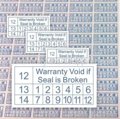 warranty void if damaged labels