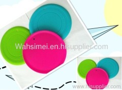 Customized logo printing silicone flying frisbee