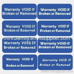 Warranty VOID if broken labels