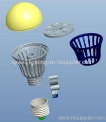 E27 Base MCOB Led Bulb r60 9w led bulb lamp