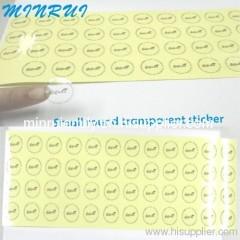 Custom Clear Vinyl Stickers Printing