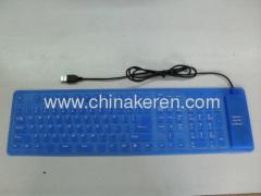 Silicone blue soft keyboard