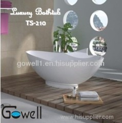 Gowell freestanding solid surface bathtub