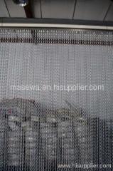 silver aluminum chain link curtain