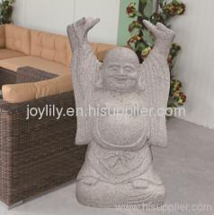 Standing stone buddha statue