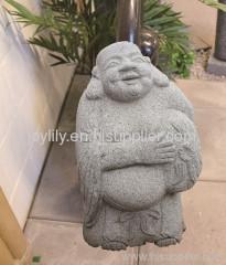 happy buddha stone statue