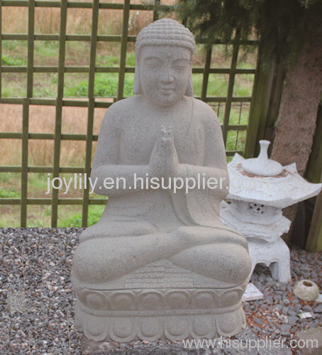 Outdoor Sitting stone buddha statue