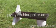 Geormetry stone bench